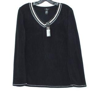 3/$20 NWT Aria Pajama Top Fleece Micro Spandex I1
